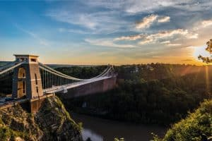 Bristol suspension bridge view
