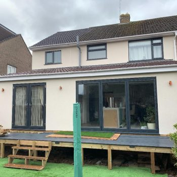 House in Frampton Cotterell with new rendering