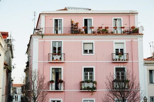 pink house rendering